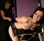Alice King is bound with rope getting her pussy fucked hard