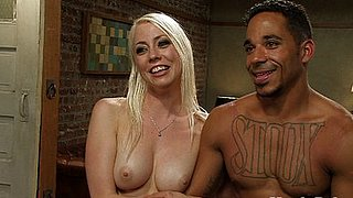 Lorelei Lee femdom ties up and strapon fucks male