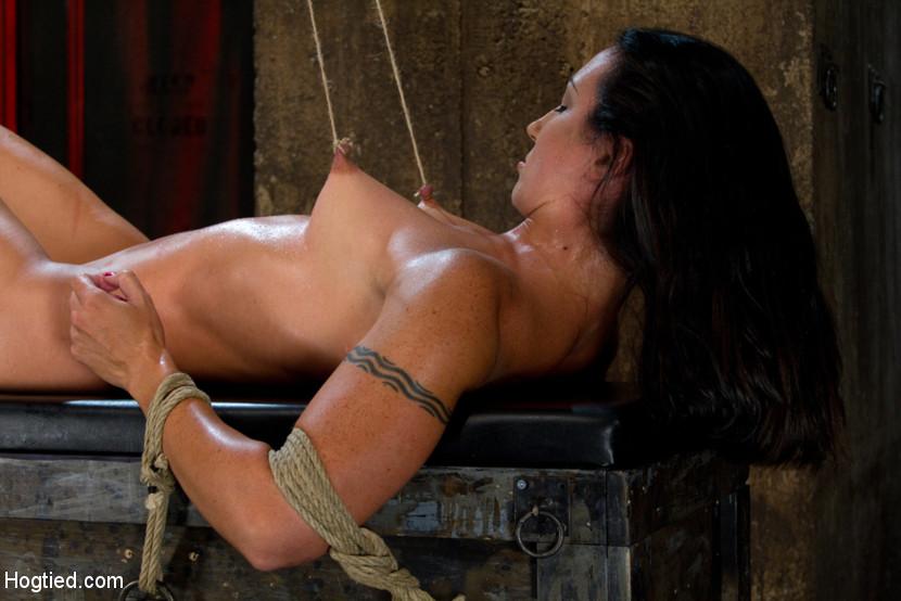 My slave suffers hard tits bondage