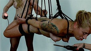 Bella Wilde is hogtied and toyed with violet want