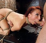 Nicki Hunter sexually dominated with bondage and rough anal sex