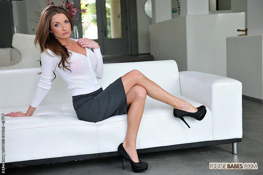 sex previews - silvia saige sexy high heels office babe footjobs kinky feet fetish guy